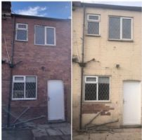 Paint removed form terraced house