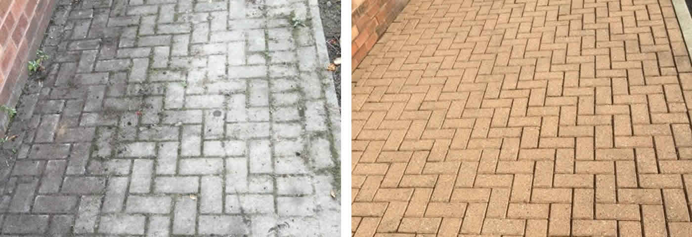 Pressure washing and patio cleaning  in Sheffield and Chesterfield by Advanced Mobile Blast & Chemical Cleaning
